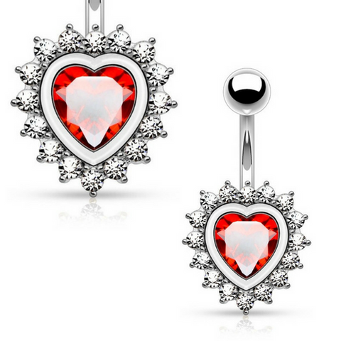 Romantic Love Heart Belly Rings