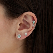 Designer Maria Tash Petite Diamond Pansy Threaded Stud (Helix)