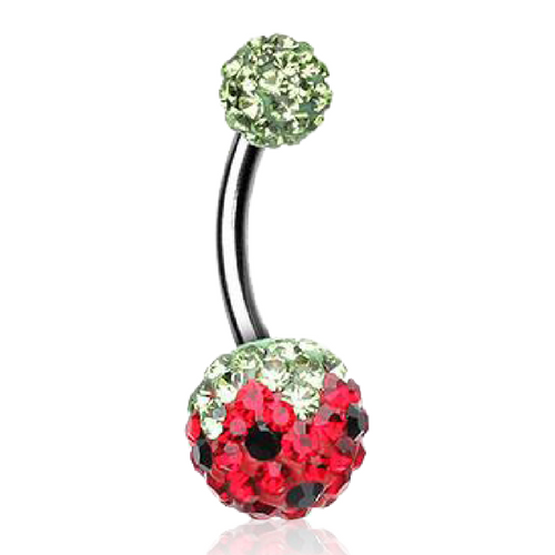 Summer Watermelon Belly Ring