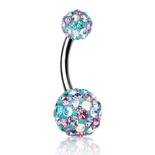 Summer Glamour Motley Belly Ring
