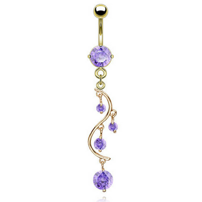 Purple Belly Rings Buy Purple Belly Button Rings Bellylicious