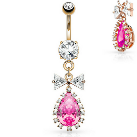 Vivid Pink Belly Button Ring