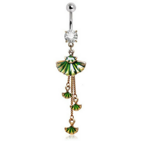 Lost Paradise Shell Dangling Belly Ring