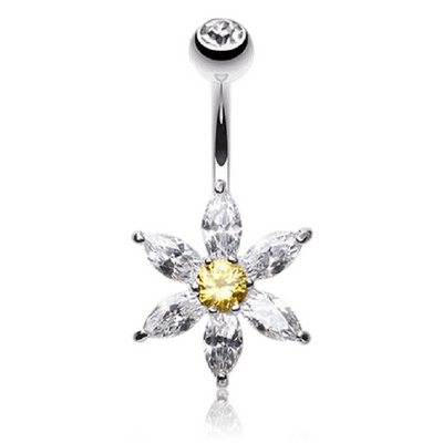 Freya's Crystal Daisy Belly Bar