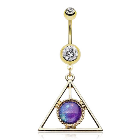Triangle Belly Button Ring