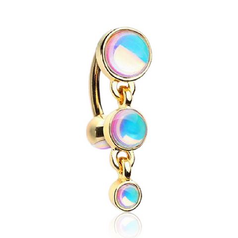 Gold Plated Reverse Belly Button Rings