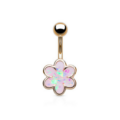Rose Gold Plated Belly Button Ring