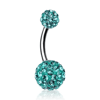 Motley Gem Pave Belly Rings