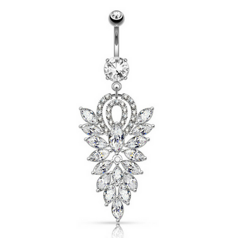 Extravagant Dangling Belly Rings.