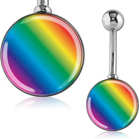 Rainbow Lollipop Belly Bar