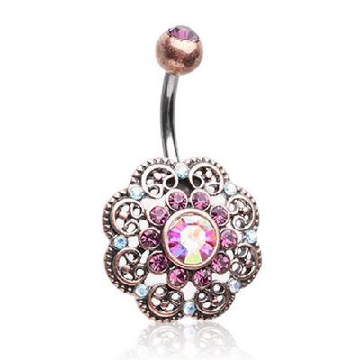 Cute Bohemian Flower Belly Button Rings