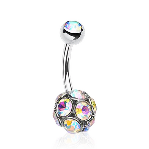 Motley Jeweled Style Belly Piercing Ring