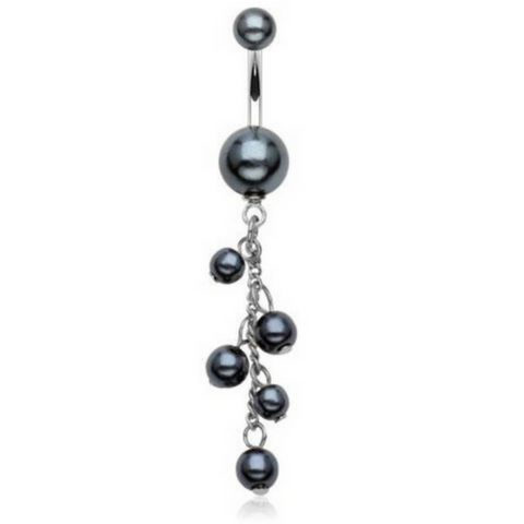 Pandora's Black Pearl Dangly Belly Ring