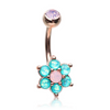 Chantilly Rose Gold Bloom Belly Ring