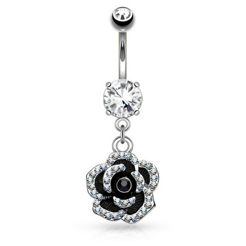 Rosie's Ritz & Glitz Flower Dangly Belly Bar