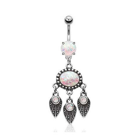 Opalescent Dreamcather Belly Ring
