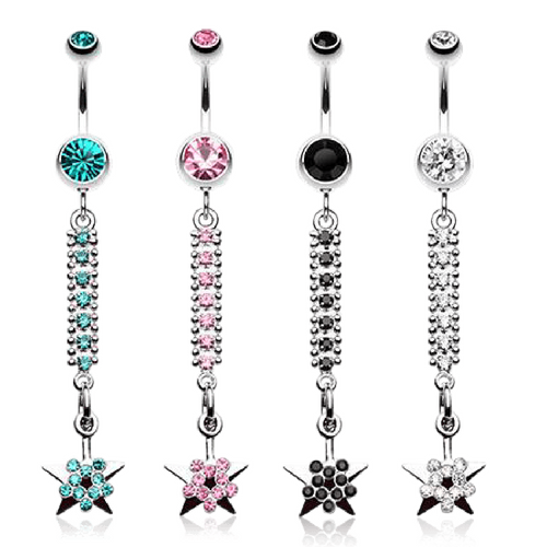 Twinkling Journey To The Stars Dangly Belly Ring