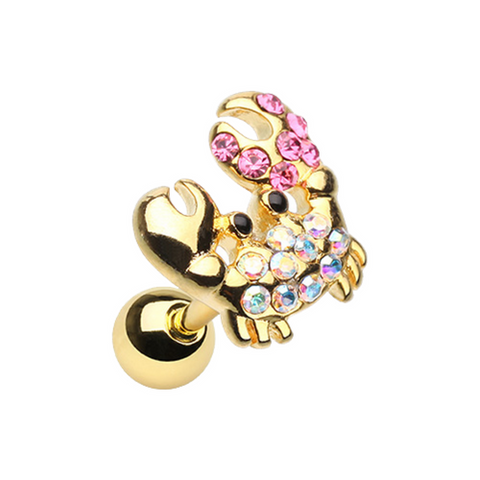 Posh Fiddler Crab Tragus Cartilage in Gold