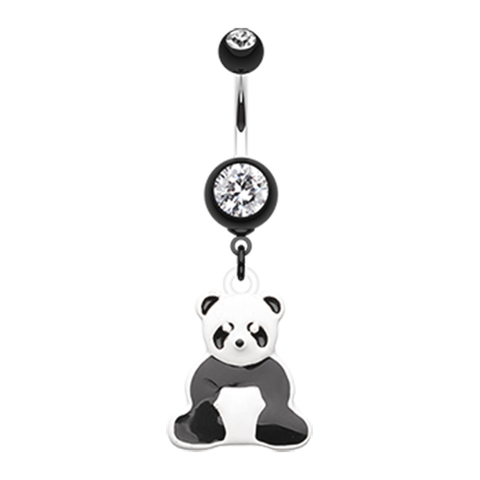 Panda Belly Ring