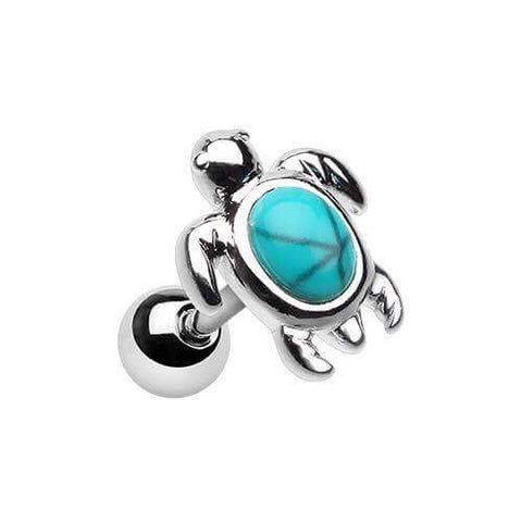 Turquoise Turtle Tragus Cartilage
