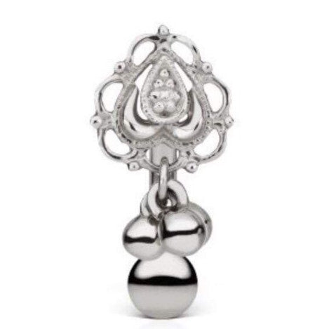 Dala 18k White Gold Dangle Reverse Belly Button Ring