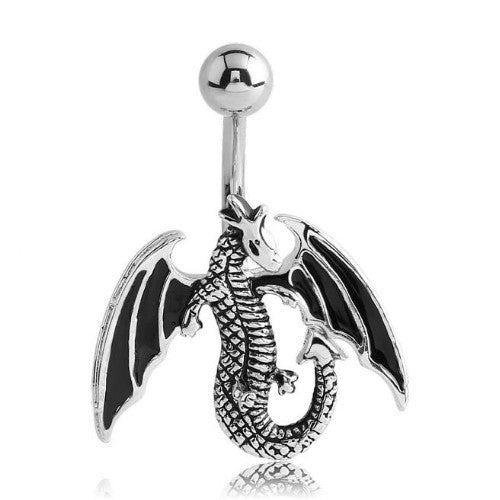 Winged Dragon Belly Button Ring