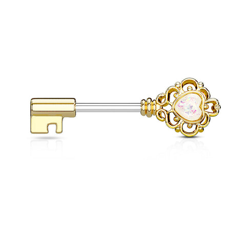 Gold Plated Key Nipple Ring