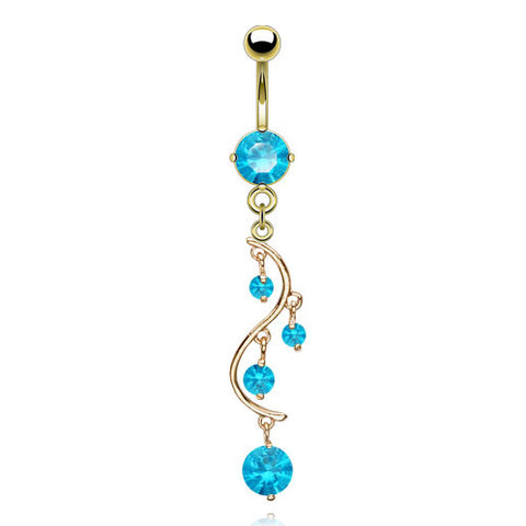 Gold Plated Chandelier Belly Button Ring
