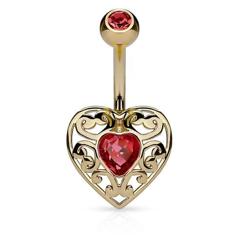 Golden Eternal Love Belly Bar