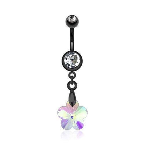 Aurora Flwer Prism Belly Dangle