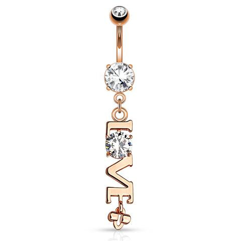 Love Statement Belly Rings