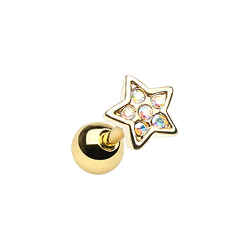 Golden Star Cartliage Ring