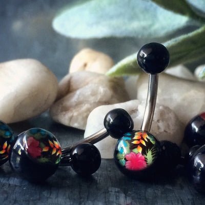 UV Acrylic / Plastic Belly Button Rings