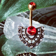 Golden Marrakesh Ruby Fan Belly Bar