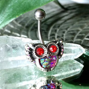 Aurora Mermaid Owl Belly Button Ring