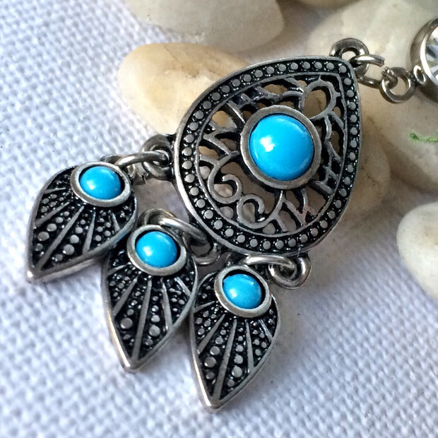 Boho Turquoise Dreamcather Belly Ring