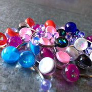 Opal Glitz Glass Look Belly Bars