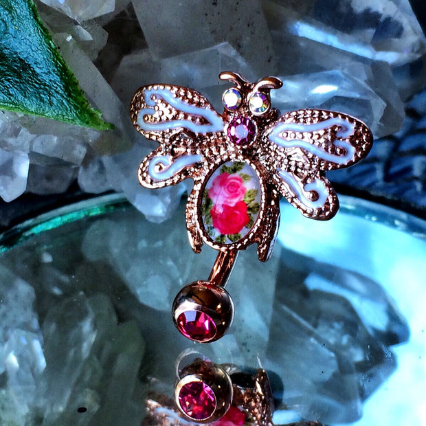 Vintage Dragonfly Belly Ring