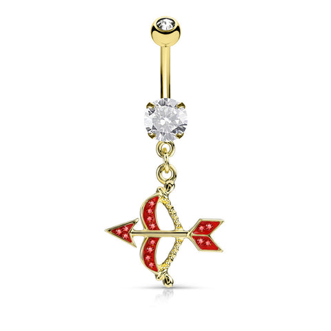 Cupids Bow and Arrow Belly Ring