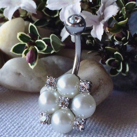 Pearl Belly Button Rings