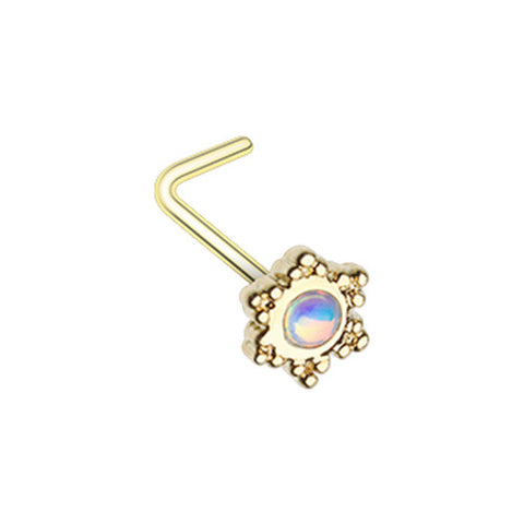 Golden Revo Illuminating Gleam L Shape Nose Ring