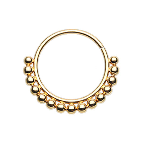 Golden Bali Ball Nose Ring