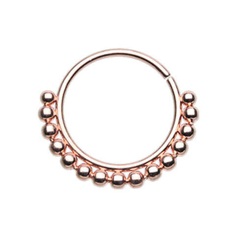 Rose Gold Bali Ball Nose Ring