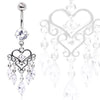 Stunning Chandelier Heart Dangling Navel Ring