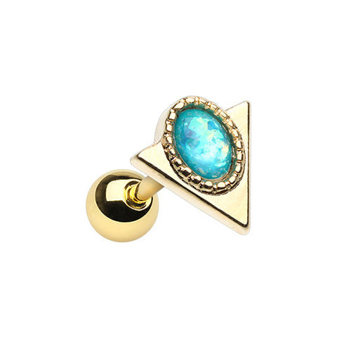 Golden Opal Arrowhead Tragus Cartilage