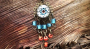 """Gypsy Spirit"" Blue Millefiori Belly Bar"