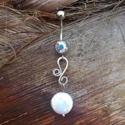 Pearl Belly Rings Australia