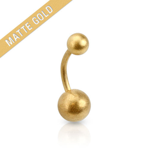 Gold Plated Basic Belly Navel Ring