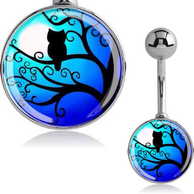 Owl Belly Button Rings