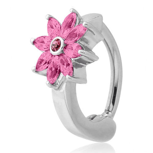 Pink Crystal Flower Belly Huggy